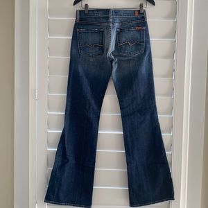 7 for All Mankind sz 27 flare jeans vintage Y2K